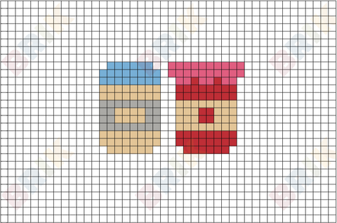 Peanut Butter and Jelly Pixel Art