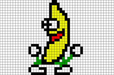 Peanut Butter Jelly Time Pixel Art Banana
