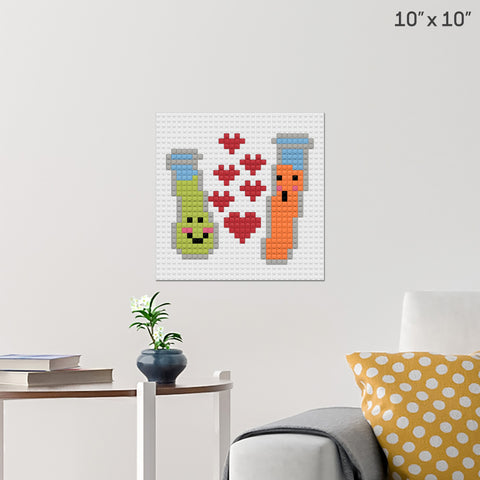 Perfect Chemistry Brick Poster