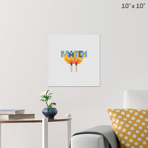 Perfect Match Brick Poster