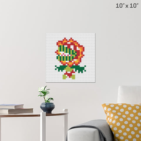 Petey Piranha Brick Poster