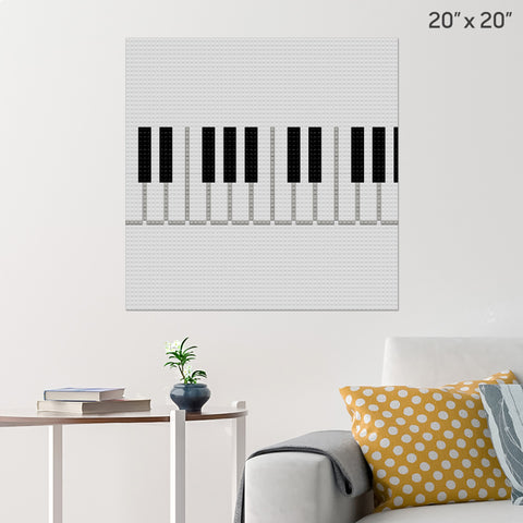 Piano Keyboard Brick Poster