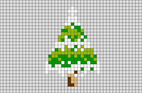 Pine Tree Pixel Art