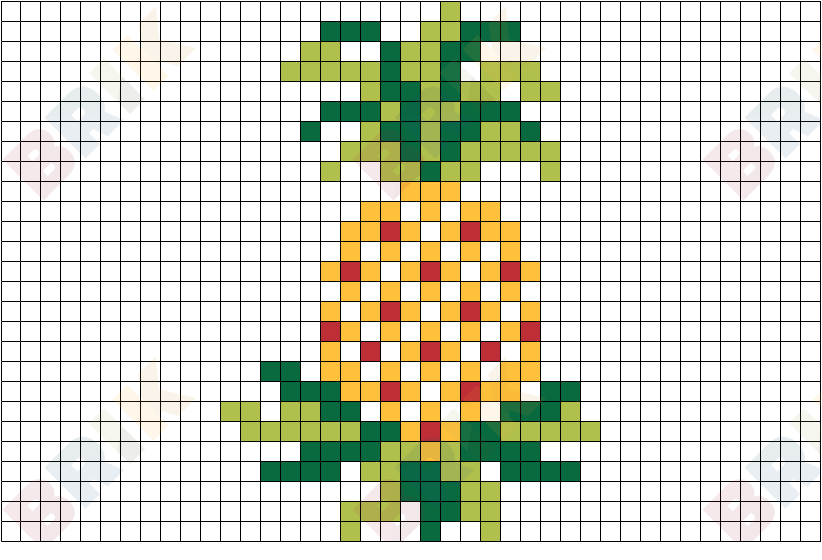 Pineapple Pixel Art Brik