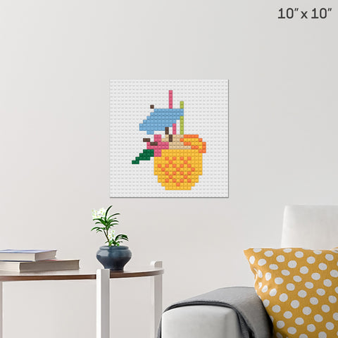 Pineapple Brick Poster