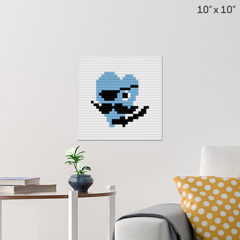 Pirate Heart Brick Poster