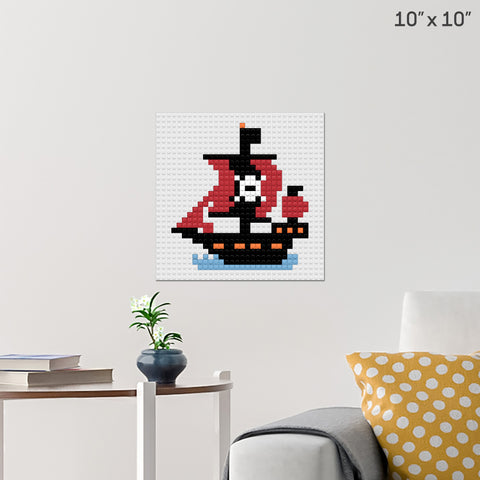 Pirate Ship Brick Poster
