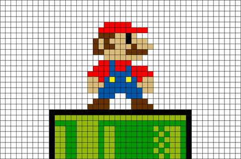 Pixel Mario and Tube