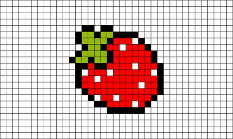 Pixel Strawberry