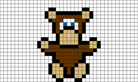 Pixel Teddy Bear