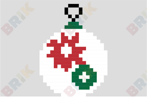 Poinsettia Day Pixel Art