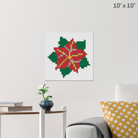 Poinsettia Day Brick Poster