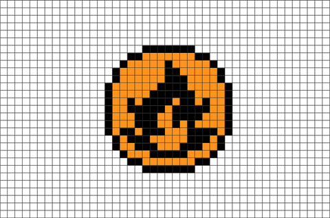 Pokemon Fire Energy Pixel Art Brik