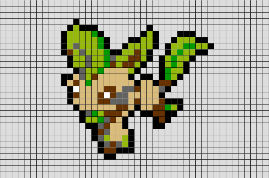 Pixel Art Pokemon Evoli