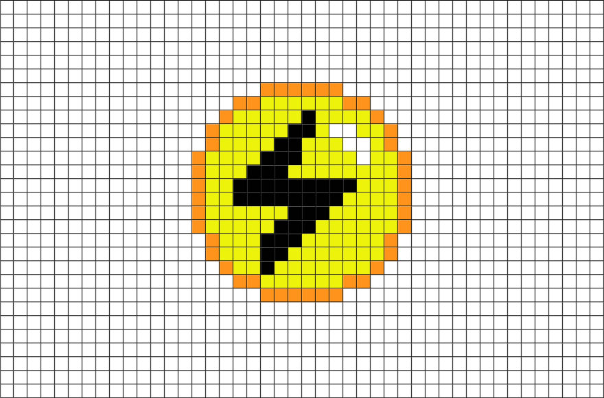 Pokemon Lightning Energy Pixel Art Brik