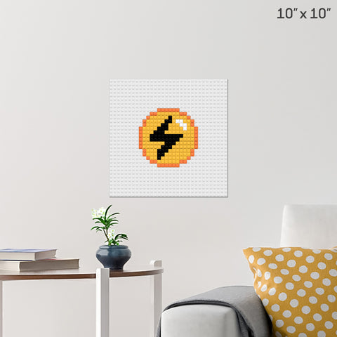 Pokemon Lightning Energy Brick Poster
