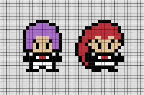 Pokemon Team Rocket Pixel Art