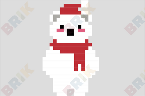 Polar Bear Pixel Art