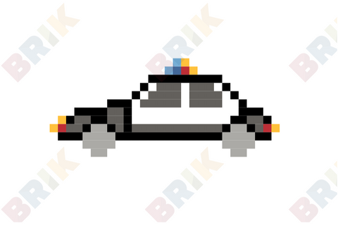 Police Car Pixel Art