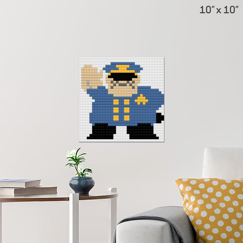 Police Officer Brick Poster