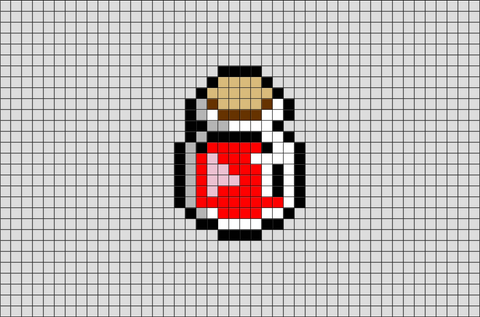 Potion Bottle Pixel Art