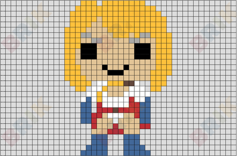 Power Girl Pixel Art
