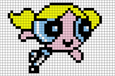 Power Puff Girls Pixel Art