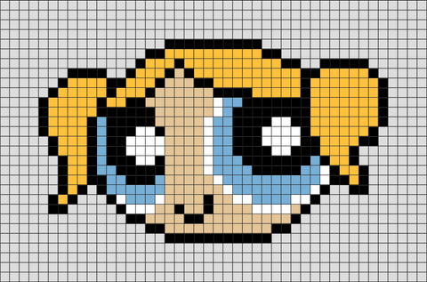 Powerpuff Girls Bubbles Pixel Art
