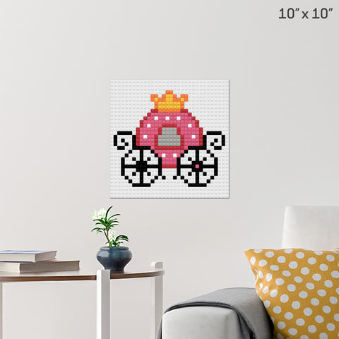 Princess' Carriage Brick Poster