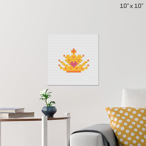 Princess Crown Brick Poster