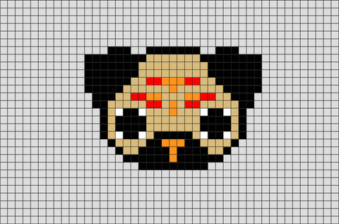 Pug Dog Pixel Art