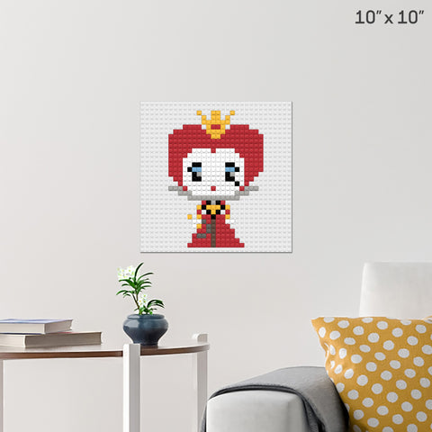 Queen of Hearts Brick Poster