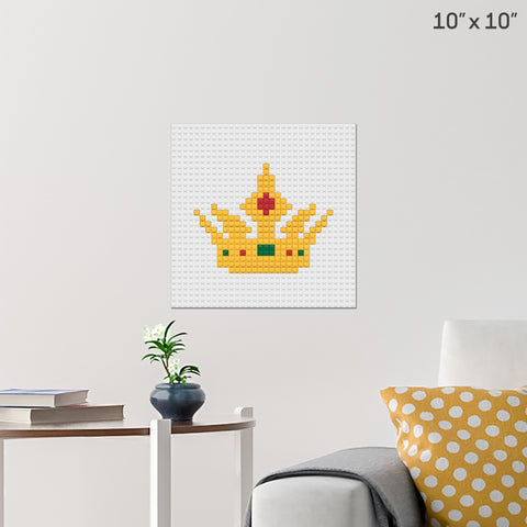 Queen's Crown Brick Poster