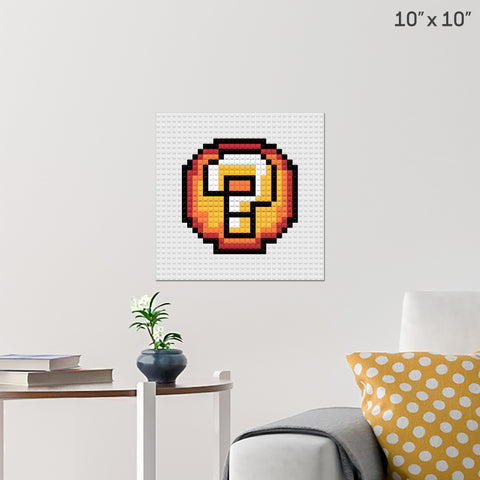 Question Ball Mario Brick Poster