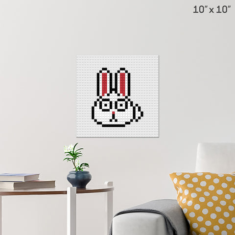 Rabbit Brick Poster