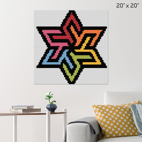 rainbow star Brick Poster