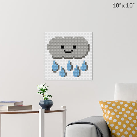 Rainy Day Brick Poster