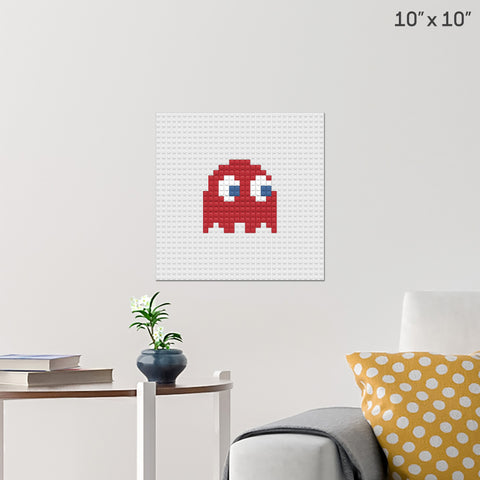 Red Ghost Brick Poster