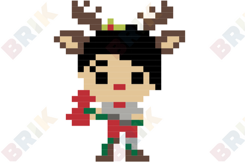 Red-Nosed Raider Pixel Art
