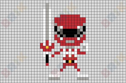 Red Ranger Pixel Art