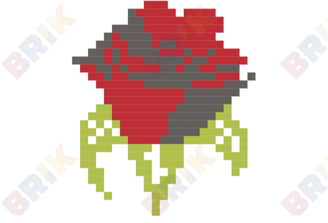 Red Rose Day Pixel Art