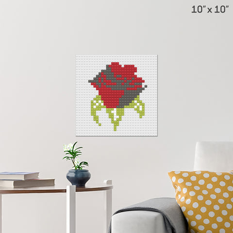 Red Rose Day Brick Poster