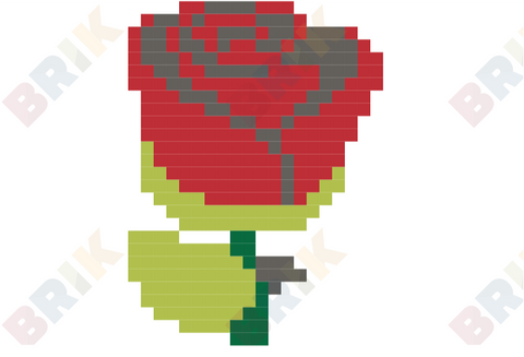 Red Rose Pixel Art