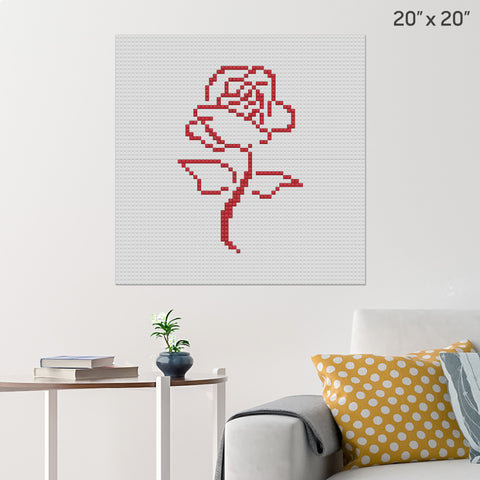 Red Rose Brick Poster