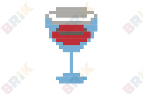 Red Wine Pixel Art