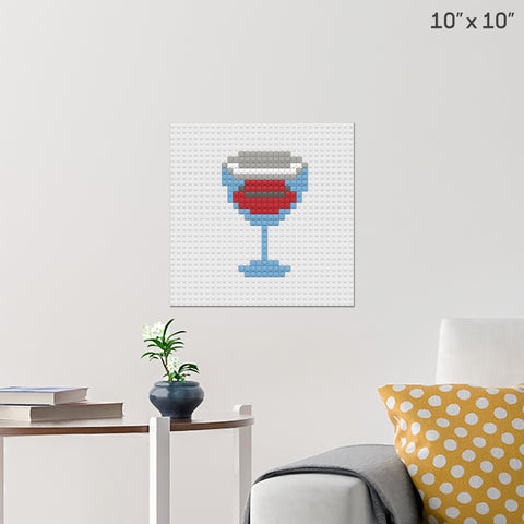 Red Wine Brick Poster