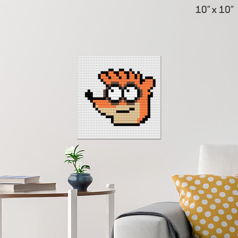Regular Show Rigby Brick Poster