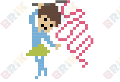 Ribbon Pixel Art
