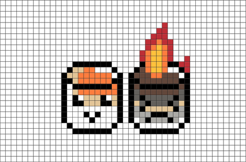 Roasted Marshmallows Pixel Art