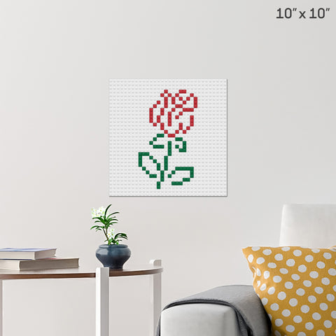 Rose Month Brick Poster